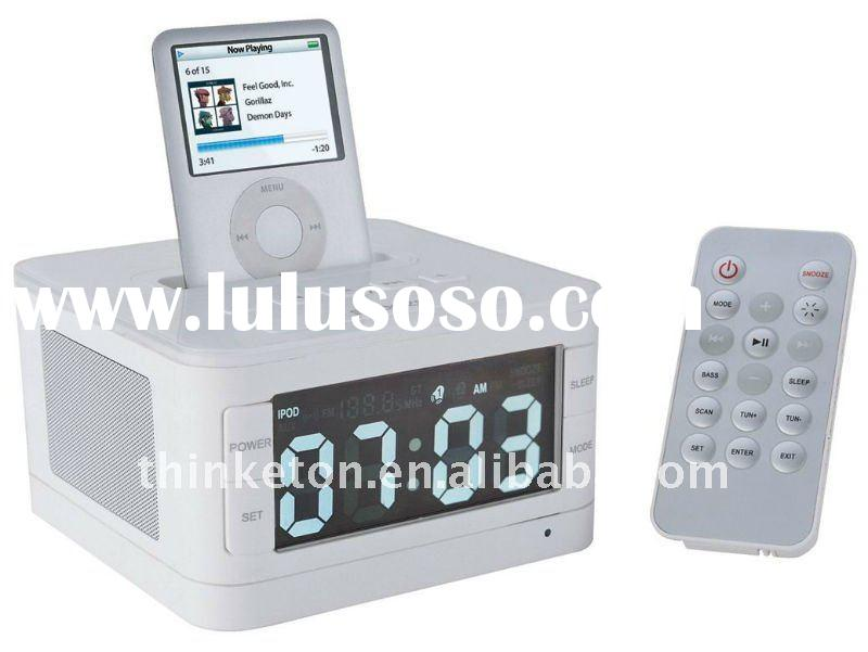 alarm clock radio speaker for iPhone/ipod/MP3 Player