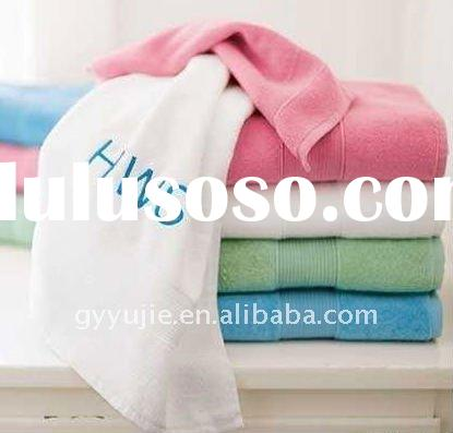 bath towels 100 cotton with embroidery logo