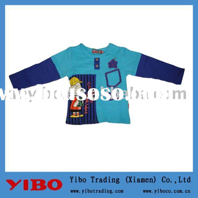 blue printed boys t-shirt,children clothing,kids wear