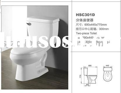 ceramic water saving two piece toilets