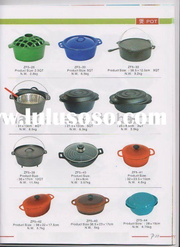 color enamel cast iron cookware