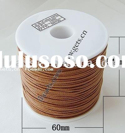 cotton cord,wax cotton cord,made in Korea, 1mm, Length:100 Yard, Sold by PC