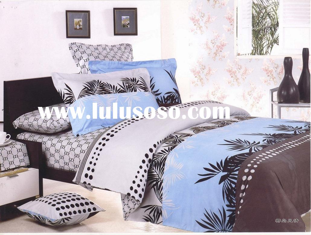 cotton cushion/quilt/bedding set/Coconut tree island character and style bedding set