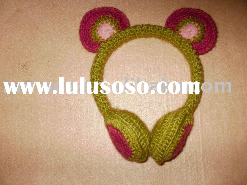 cute winter wool ear muff for kids