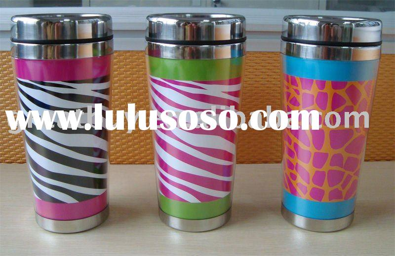 double wall travel mug with paper inserts
