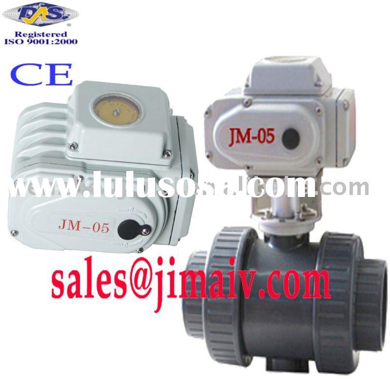 electric PVC ball valve