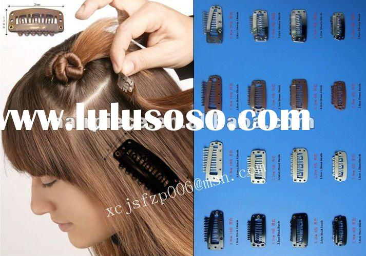 korean hair extension snap clips for wigs