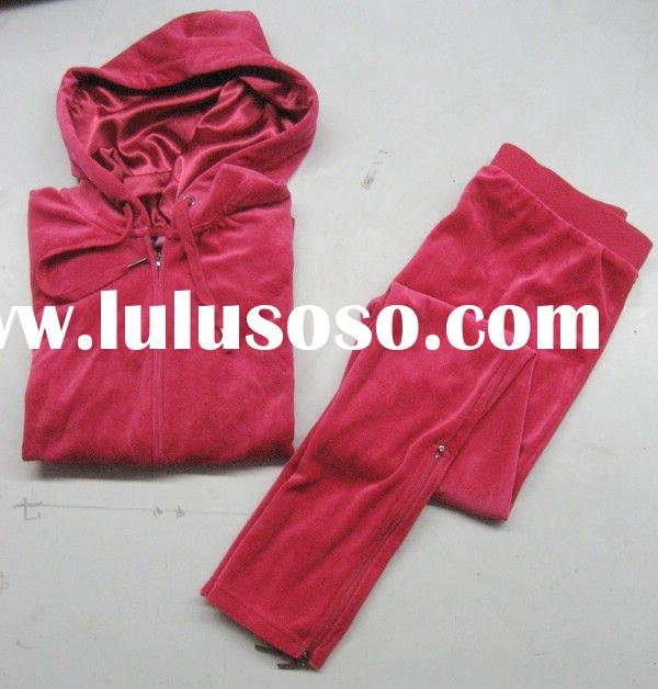 ladies velour jogging suits