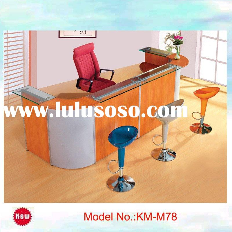 modern design, very shape color outstanding reception counter