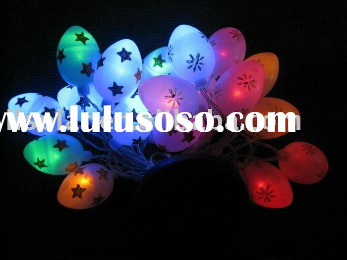 multi color Easter decorative led solar egg string light