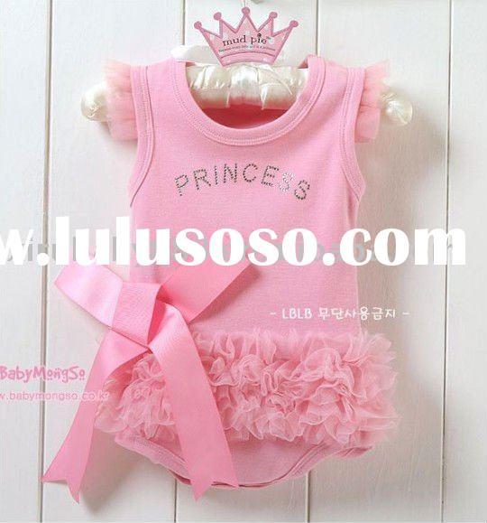 new fasion lovely princess pink lace lacework wrap fart baby romper kid romper child romper summer a