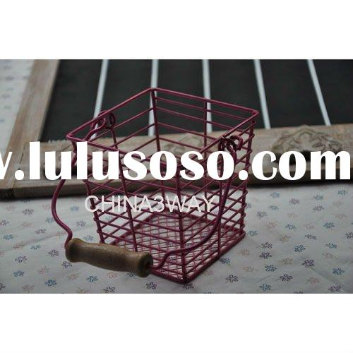plastic coated wire baskets for gift packing