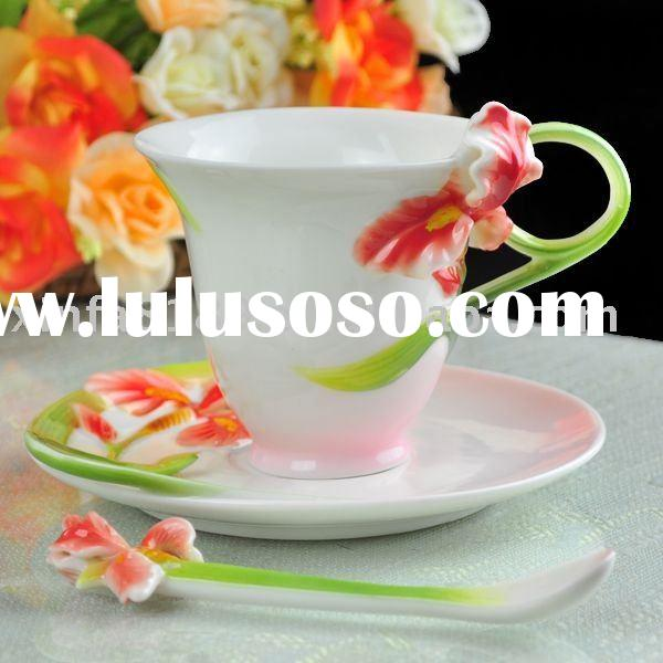 porcelain coffee cup and saucer 1002E-5