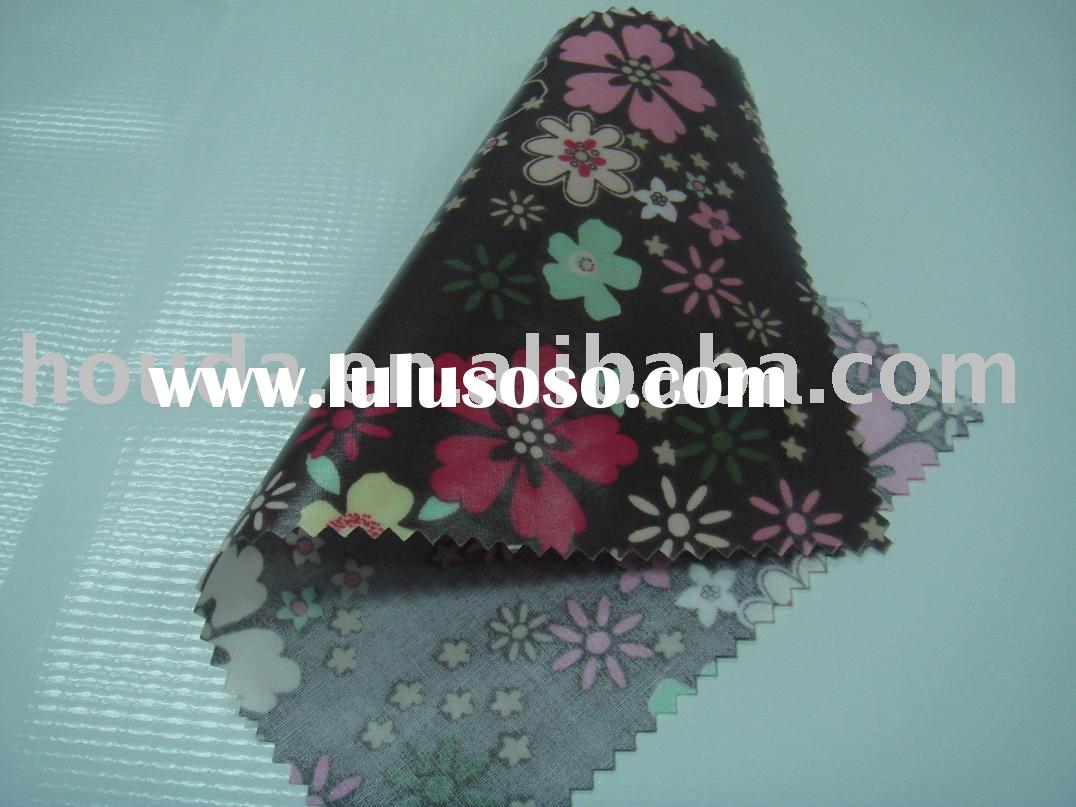 pvc printed cotton fabric for bag
