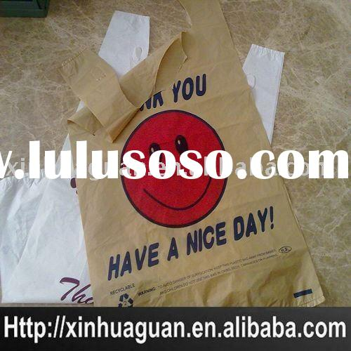 recycle Plastic T-shirt shopping bag/recycle Plastic T-shirt garbage bag