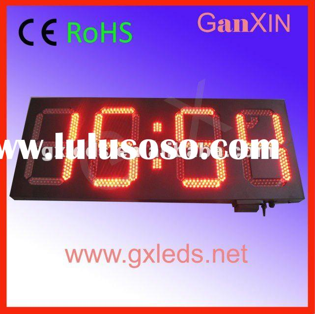 red large unique products 12inch 7 segment led clock display