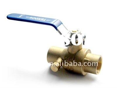 solder ball valve with drain end