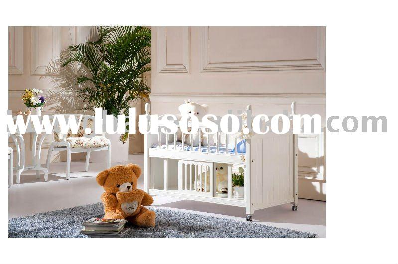 solid wood Baby Cot F8006