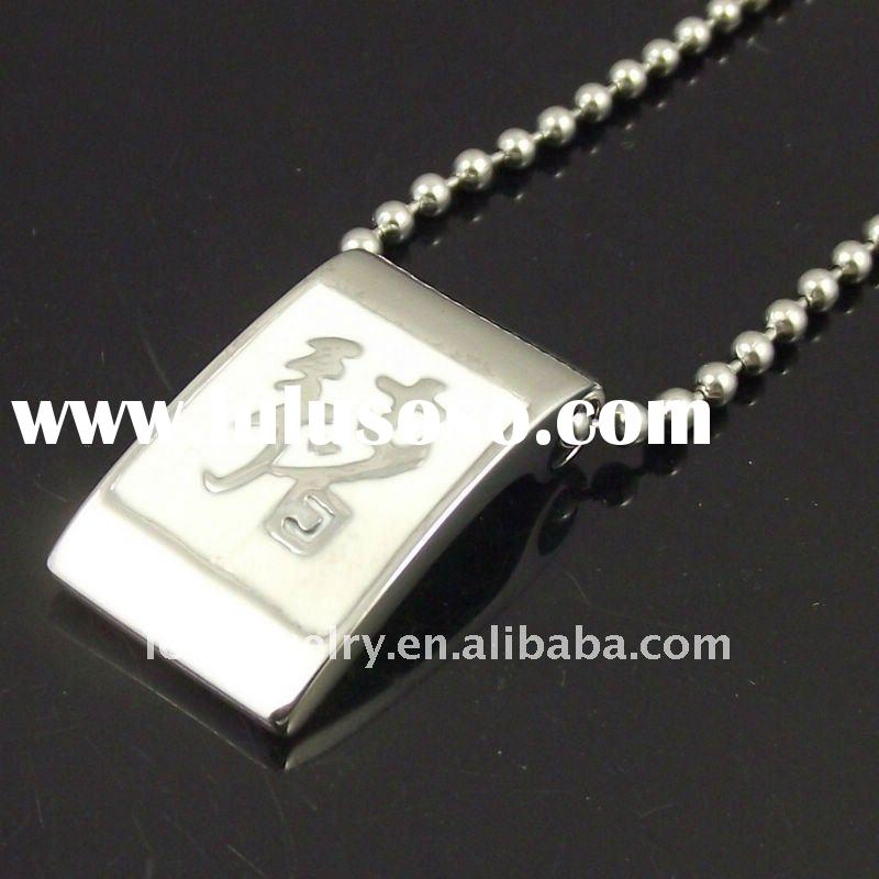 stainless steel chinese zodiac pendant of pig popular in boys and girls