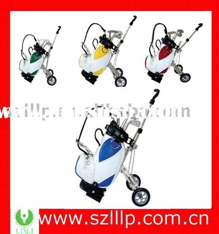 supply pu branded golf club with cart and ball pen gift