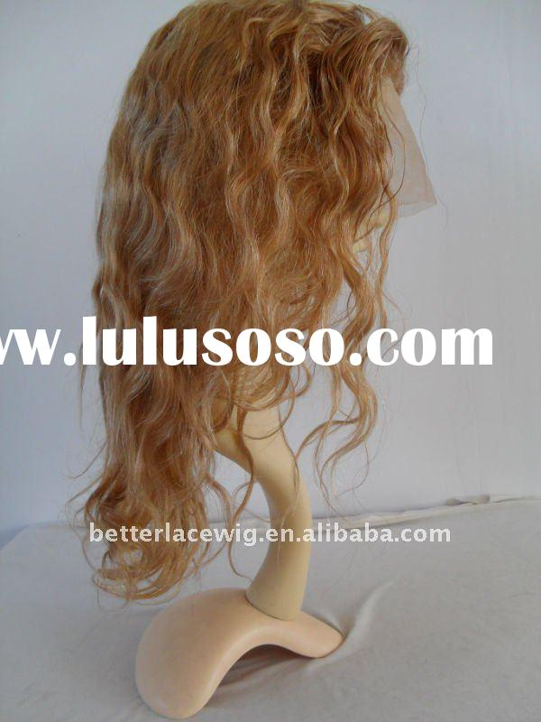 top beauty wavy peruvian hair lace wig color #27 in stock paypal accepted