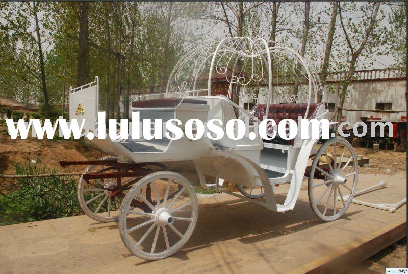 top quality pumpkin wedding horse carriage