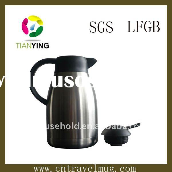 vacuum double wall stainless steel tea & coffee pot