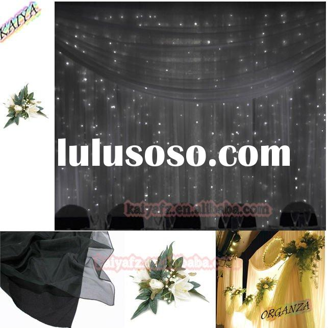 wedding stage backdrop wedding decoration Material organza Hand