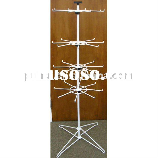 wire and metal display rack for hanging items