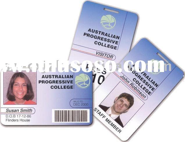 work card, membership card, Portrait card, ID card