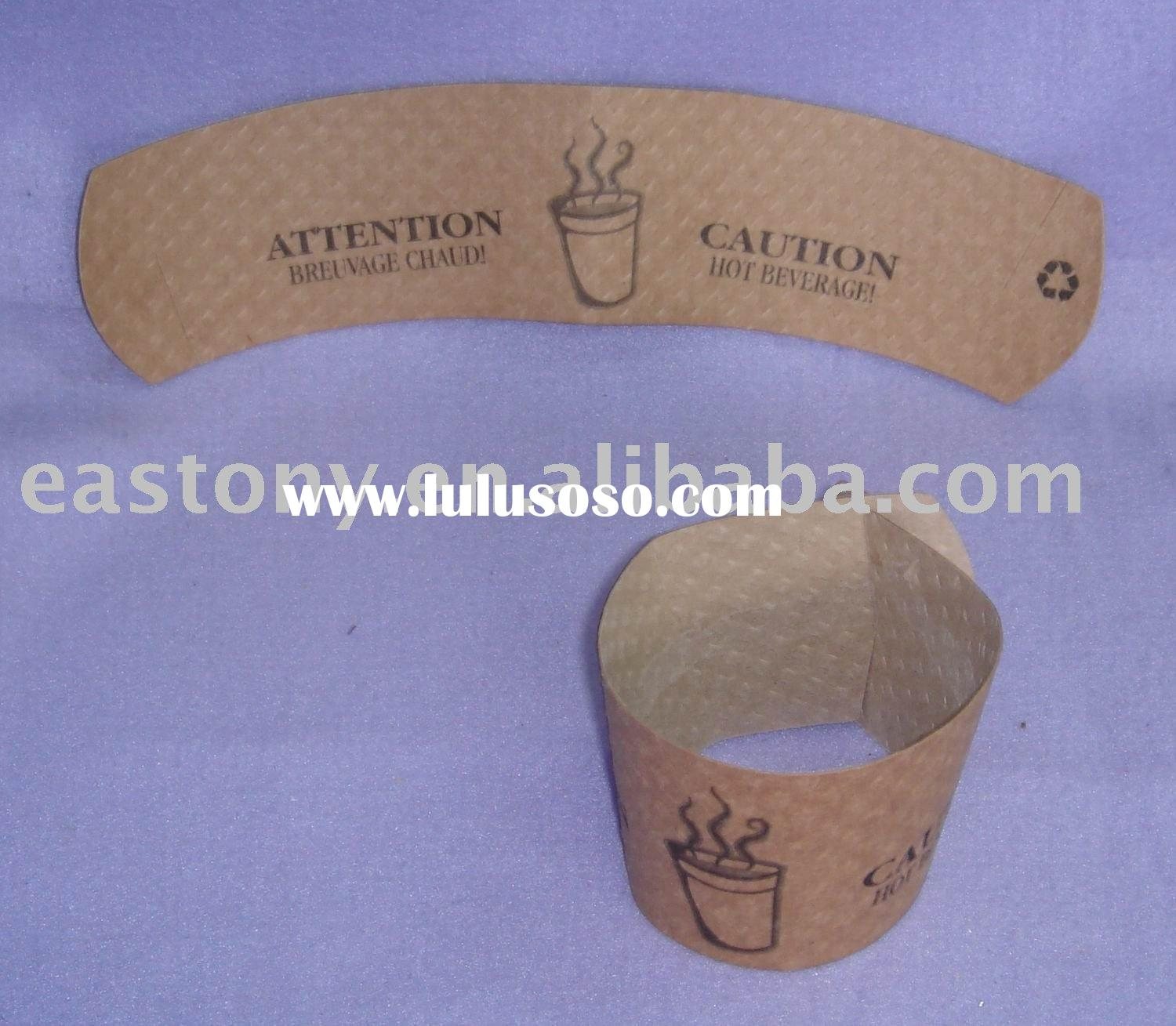 12oz Paper Cup Sleeve,Cup wrap,Paper Clutch,Coffee Sleeve,Cup Clutch, Disposable Paper Coffee Cup Sl
