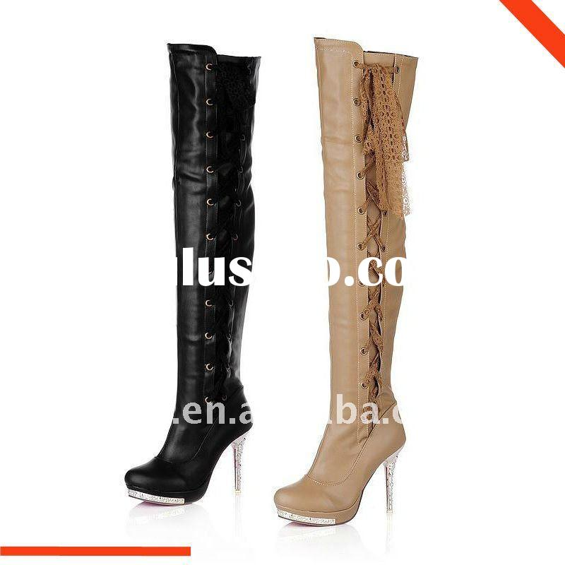 2011-12 Women's winter shoes, over knee high boots