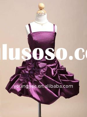 2011 New design spaghetti straps ruffle flower girl dresses for weddings,kids evening gowns(AFG078)