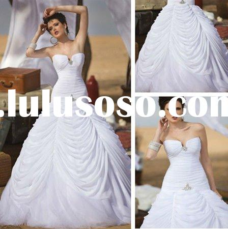 2012 New Model WD3427 Backless Tulle Designer Wedding Dresses