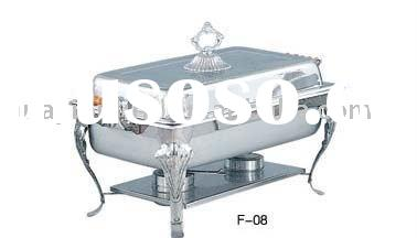 304 stainless steel chafing dish with glass lid