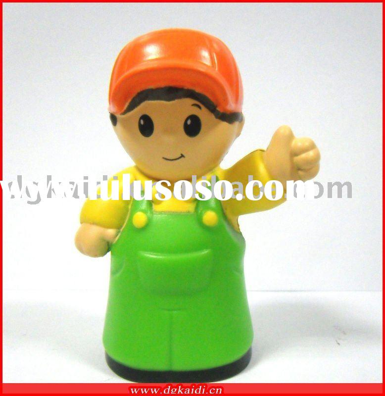 3D plastic waiter action figure