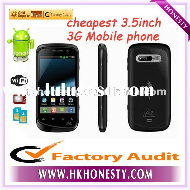 3.5inch cheapest hot selling 3G android MTK6573 mobile phone