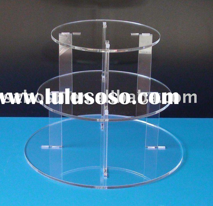 3 Tier Round Acrylic Cupcake Display, Lucite Food Display, Acrylic Cupcake Stand