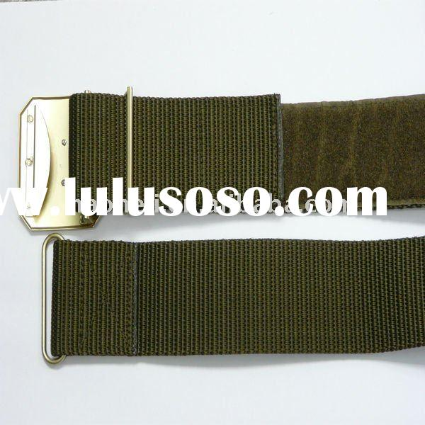 53mm military belt made of nylon webbing,military belt with velcro