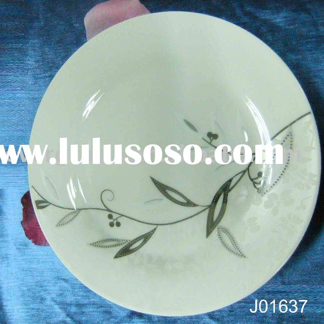 "7.5""silver porcelain dishes plates"