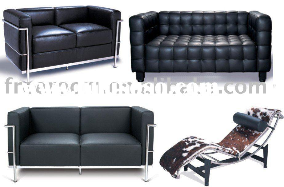 BARCELONA CHAIR AND OTTOMAN, le corbusier sofa lc2, nogochi table eames lounge chair ball chair egg