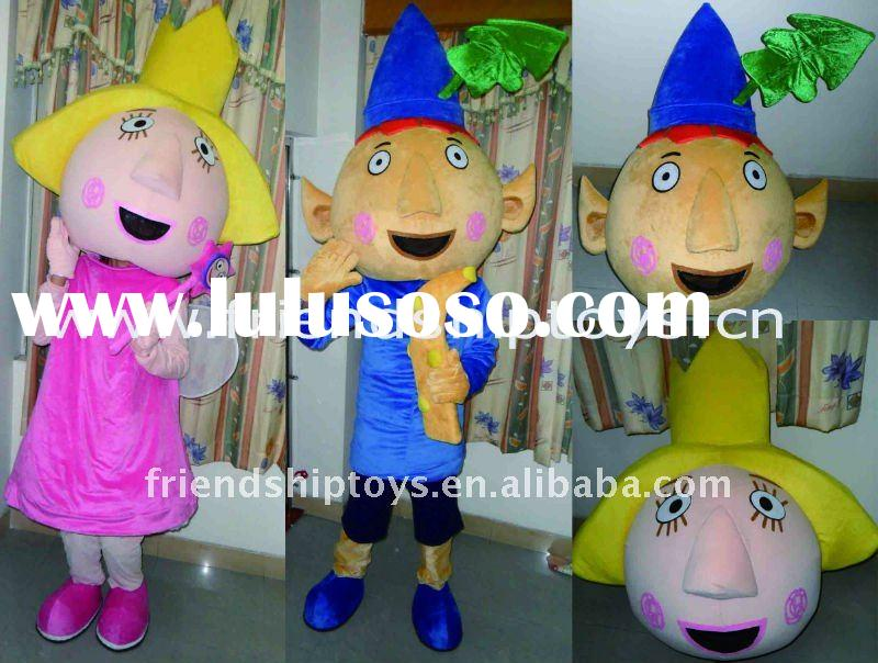Ben and Holly mascot cartoon character costume