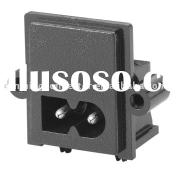 CSA Standard Electrical Power Socket (UL, cUL, CSA, VDE Approved, HJC-028A-P AC Power Connector)