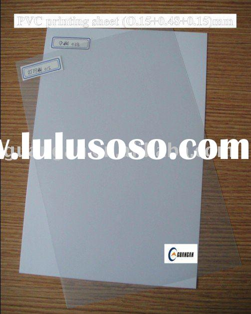 Clear Plastic Sheets For Card Making (0.15+0.48+0.15mm)