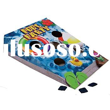 Colorful bean bag toss, cartoon corn hole game table