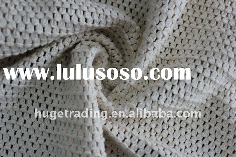 Cotton Polyester Jacquard Warp Knitted Loop Fabric