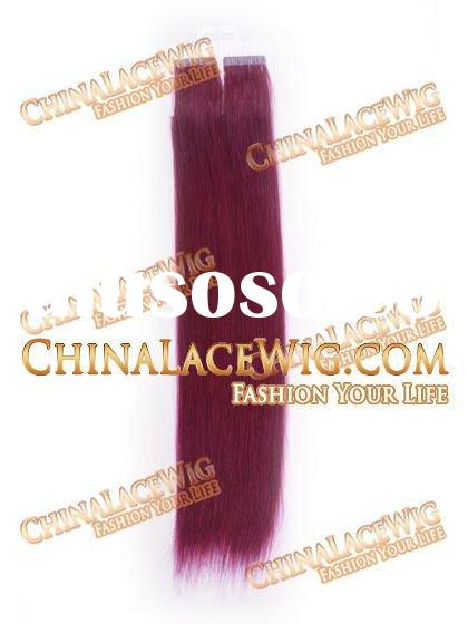 Crazy purple tape and adhesive remy hair extensions