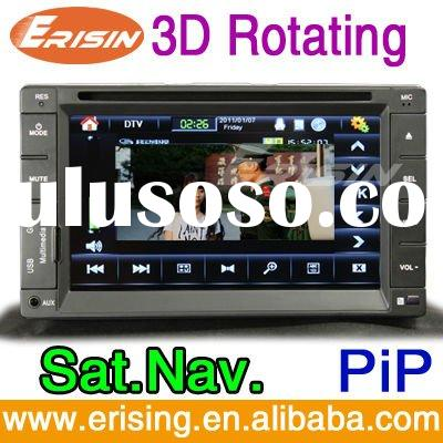 Erisin 6.2 inch double din touch screen TV bluetooth car radio dvd sat nav player