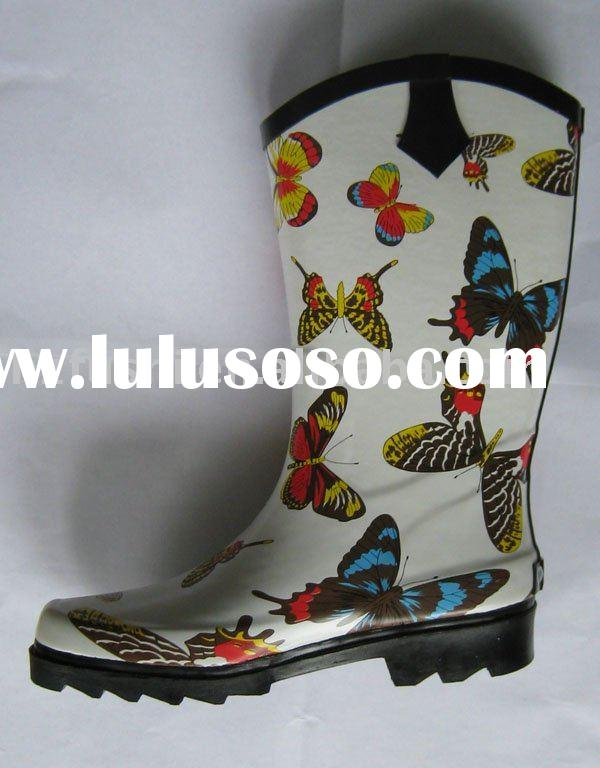 FS Butterfly lady rubber boots(women rubber boots) rain boots