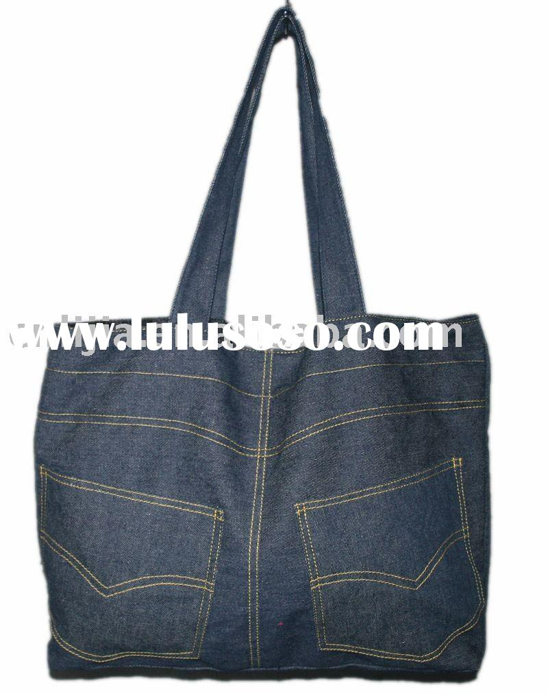 Fashion women bag, Denim tote bag, lady handbag-815